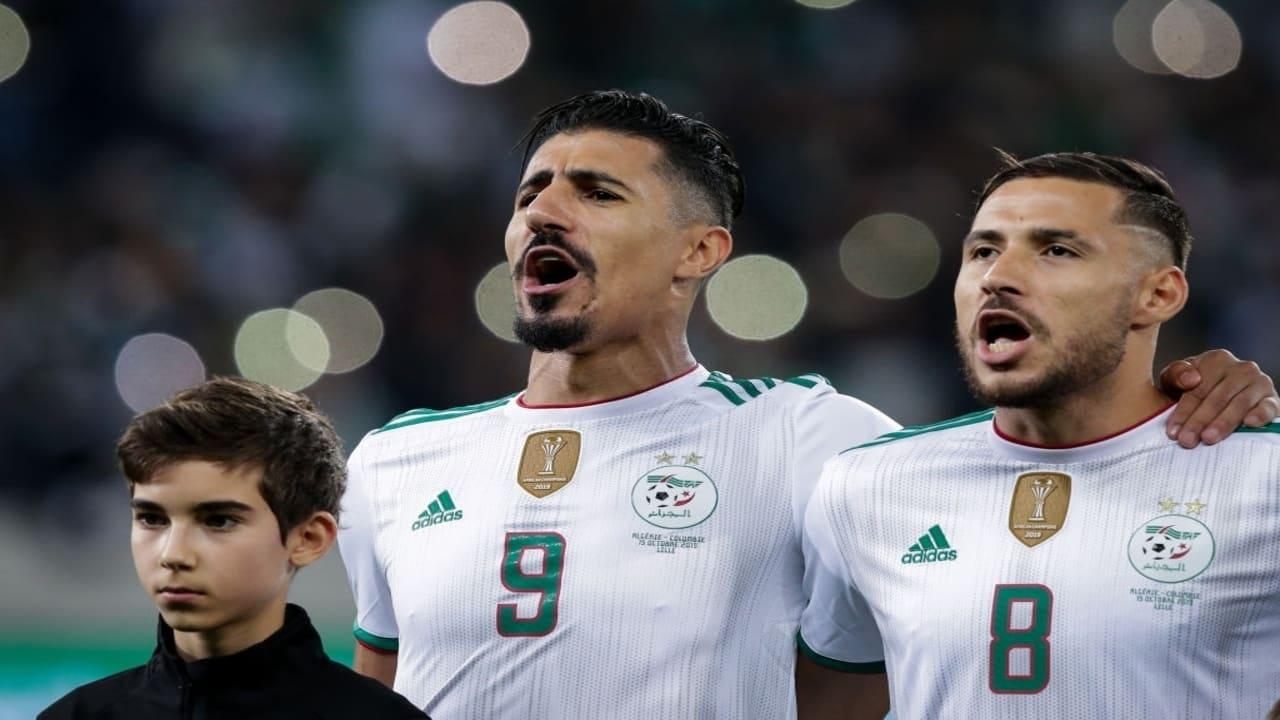Youcef Belaili international algérien, et Baghdad Bounedjah