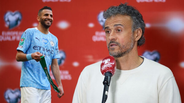 Riyad Mahrez Luis Enrique