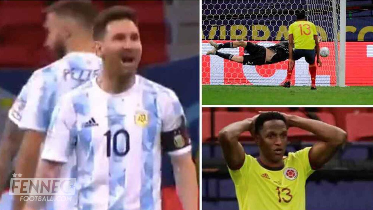 Lionel Messi Yerry Mina Copa America